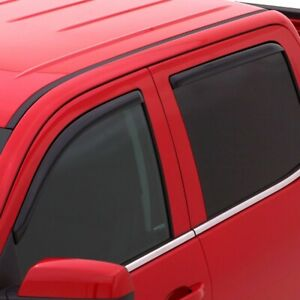 Avs Rain Guards In channel Vent Visor 05 19 Nissan Frontier Crew Cab 194407