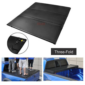 For Ford F150 15 18 5 5ft Truck Short Bed Hard Solid Tri fold Tonneau Cover