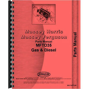 Tractor Parts Manual Fits Massey Ferguson To35