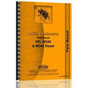 Tractor Parts Manual Fits Allis Chalmers Wd Wd45
