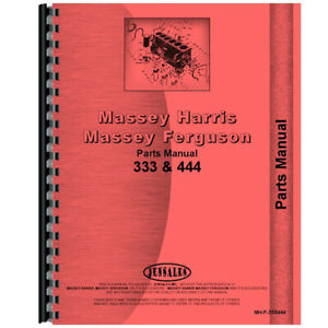 Tractor Parts Manual Fits Massey Harris For Mh 333