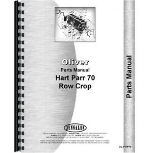 Tractor Parts Manual For Oliver For Hart Parr 70