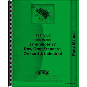 Parts Manual For Oliver 77 Tractor 148 Page Manual New