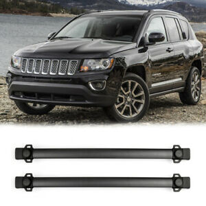 Black Roof Rack Cross Bars Rail Luggage Carrier For Jeep Compass 2011 2016