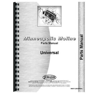 New Parts Manual Made For Minneapolis Moline Universal Tractor Models