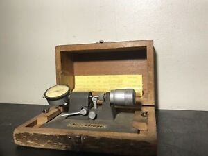 Brown Sharpe No 245 Bench Micrometer Comparator With Carbide Faces Tool