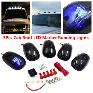 5pcs Cab Roof Top Led Marker Running Lights Truck Suv Lamp For Jeep 4x4 Pickup