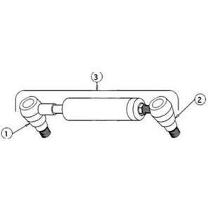 3401240m91 Power Steering Cylinder Lh Fits Massey Ferguson 135 240 Tractors