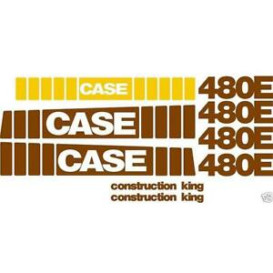 Whole Machine Decal Set Fits Case Backhoe Loader 480e Construction King