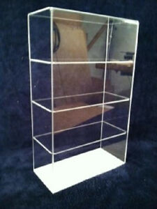 Usa Acrylic Countertop Display Case 9 5 X 4 X16 Showcase Select Shelves No Door