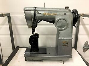 Singer 236g100 Postbed Driven Roll Feed Upholstery Industrial Sewing Machine