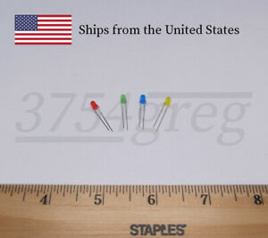 3mm Small Led Red Orange Yellow Green Blue Or White 20 Pack