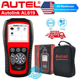 Autel Al619 Auto Scan Obd2 Engine Abs Srs Airbag Code Reader Car Diagnostic Tool