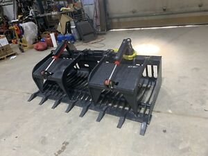 Skid Steer 84 Inch Heavy Duty Rock Grapple Bobcat Caterpillar Kubota Case Asv