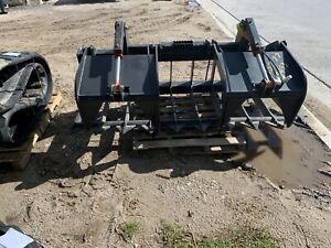 Skid Steer 80 Inch Heavy Duty Brush Grapple Bobcat Caterpillar Gehl Mustang Asv