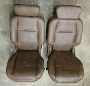 1997 2003 Ford F 150 F150 Crew Cab King Ranch Rear Bucket Seat Set Recovered