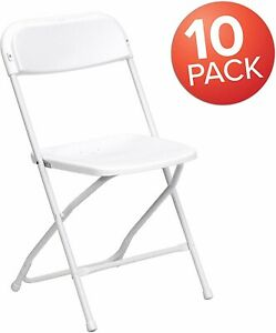 10 Pack Commercial Plastic Folding Stackable Chairs Seats event Wedding Party
