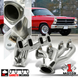 Ss Shorty Exhaust Header Manifold For Ford Big Block Bbf Fe 330 390 406 427 Swap