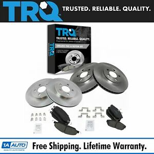 Trq Brake Pad Rotor Posi Ceramic Front Rear Kit For 05 10 Ford Mustang
