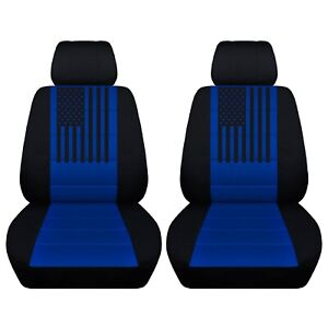 2 Front Customized Seat Covers With An American Flag Fits Ford F150