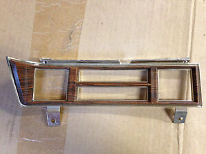 1602437 Climate Control Woodgrain Dash Bezel For Mid 70 s Cadillac Near Mint