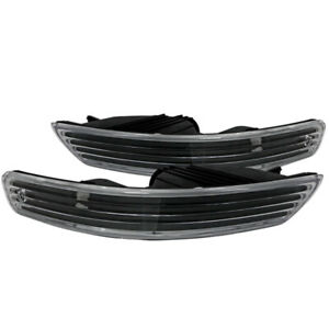 For 98 01 Acura Integra Front Bumper Lights Turn Signal Parking Lamps Black Pair