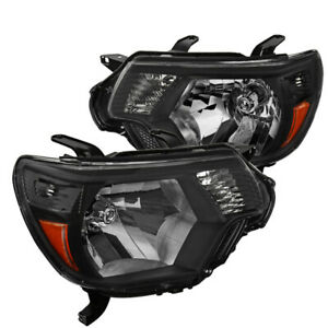 For Toyota Tacoma Black Headlights Headlamps Pickup Factory Replacement L R