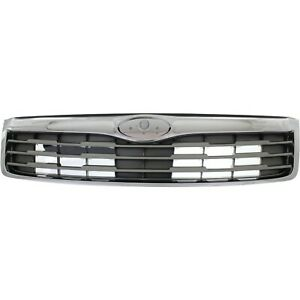 Grille For 2011 2013 Subaru Forester Chrome Shell W Silver Insert Plastic