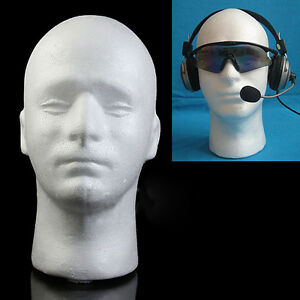 Bt_ Male Mannequin Styrofoam Foam Manikin Head Model Wig Hat Display Stand Serap