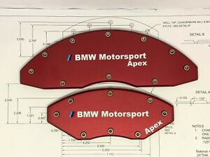 Bmw Brake Caliper Covers 18 Wheels Or Larger Red Anodize Sport Style