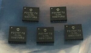Microchip Pic16f72 i ml Flash Microcontroller Qfn 28 Package 5 Pieces