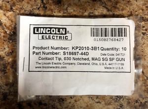 Lincoln Kp2010 3b1 Contact Tip 035 Notched Mag Sg Spool Gun 10 Pieces
