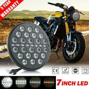 7 Inch Led Headlight Drl High Low Turn Signal Beam For Yamaha V Star Motorcycle
