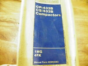 Cat Caterpillar Cs433b Cp433b Vibratory Compactor Service Manual 1mg 4fk