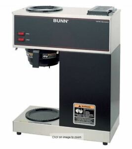 New In Box Bunn Vpr 12 Cup Commercial Coffee Brewer Black 33200 1000