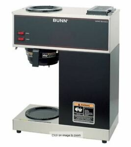 Bunn Vpr 12 Cup Commercial Coffee Brewer Black 33200 1000