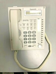 White Panasonic Kx t7667 Networks Telephone Office Business Desk Phone Handset