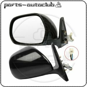 For 03 09 Toyota Hilux 4runner Left right Side Mirror Black Fold Power Heated