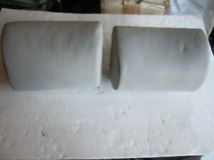Bmw E34 535 M5 540i Rear Seat Headrests Very Good Condition Dove Gray W Covers