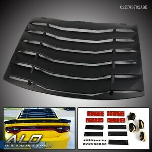 For 2011 2020 Dodge Charger Matte Black Rear Windshiled Louvers Cover Black