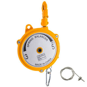 Spring Balancer Retractable Tool Holder7 11lbs 3 5kg Hanging Equipment Yellow
