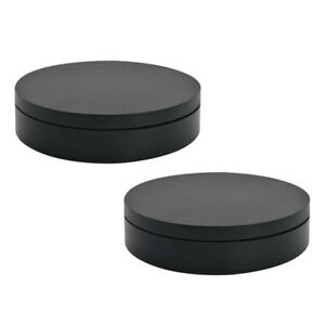 2pcs Electric Display Rotating Stand Battery Operated Turntable Display Black