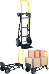 2 Wheel Dolly Hand Truck Cart Mover Heavy Duty Steel 10 Flat Solid Tires 1000lb