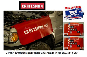2 Pack Craftsman Red Fender Cover Made In The Usa 34 X 26 Cmmt14184