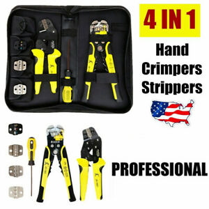 2020 New 4 In 1 Wire Crimpers Ratcheting Terminal Crimping Pliers Cord End Tool