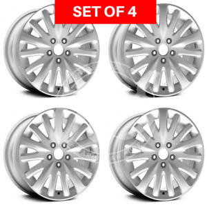 Four 17x7 5 Replacement Alloy Silver Wheel Rim Fits Ford Fusion 2010 2011 2012