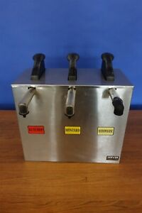 Server Express 3 Place Condiment Dispenser Pump Ketchup Mustard