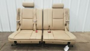2011 Gmc Yukon Xl 3rd Row Tan Leather Split Bench Seats Oem Nice Complete