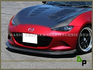 Carbon Fiber Front Lip Diffuser Side Skirt Lip For 15 19 Mazda Mx 5 Miata Nd