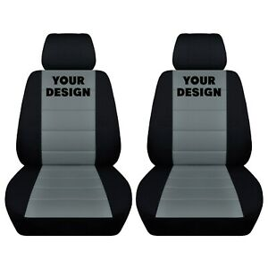 Truck Seat Covers Fits 2014 Dodge Ram Black Steel Grey Front Seat 40 20 40